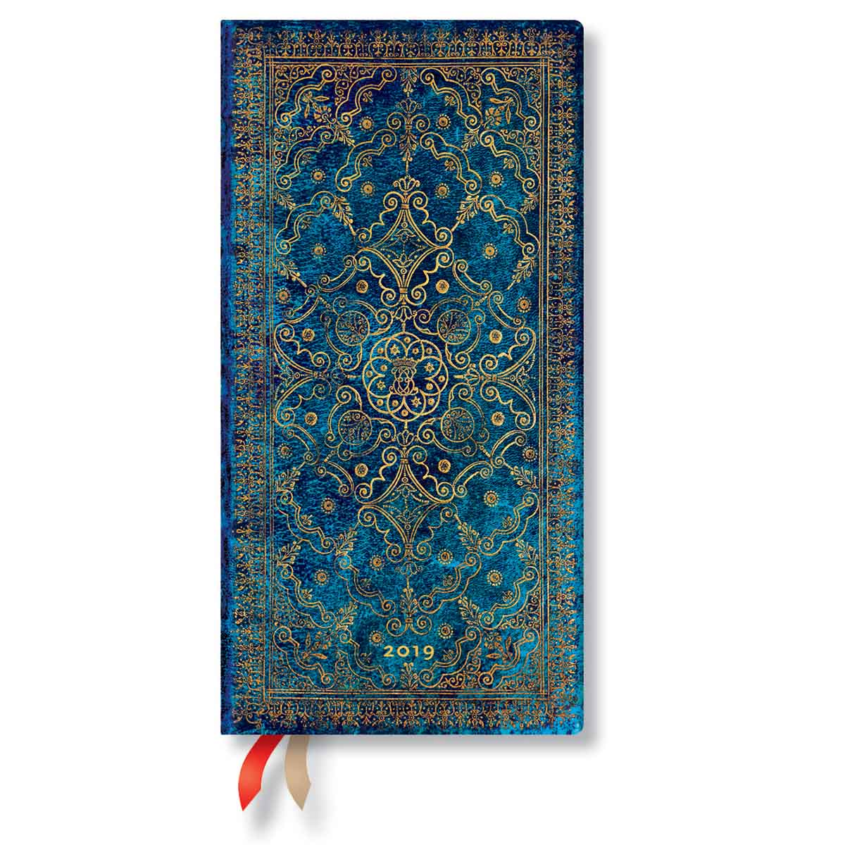 Paperblanks Slim Azure 2019 Week-At-A-Time Planner