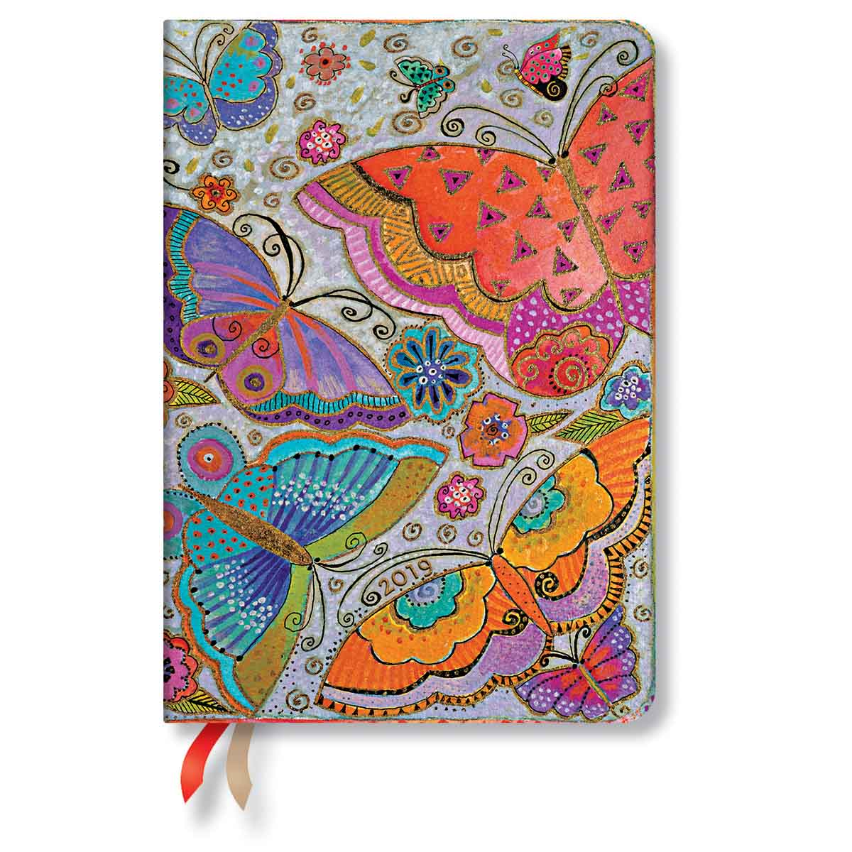 Paperblanks Midi Flutterbyes 2019 Day-At-A-Time Planner