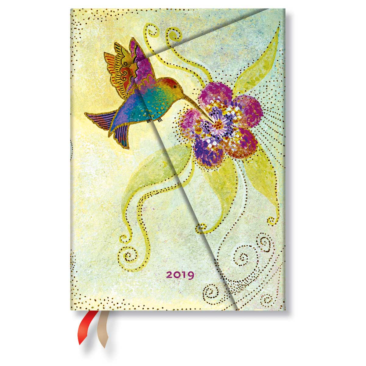 Paperblanks Midi Hummingbird 2019 Day-At-A-Time Planner