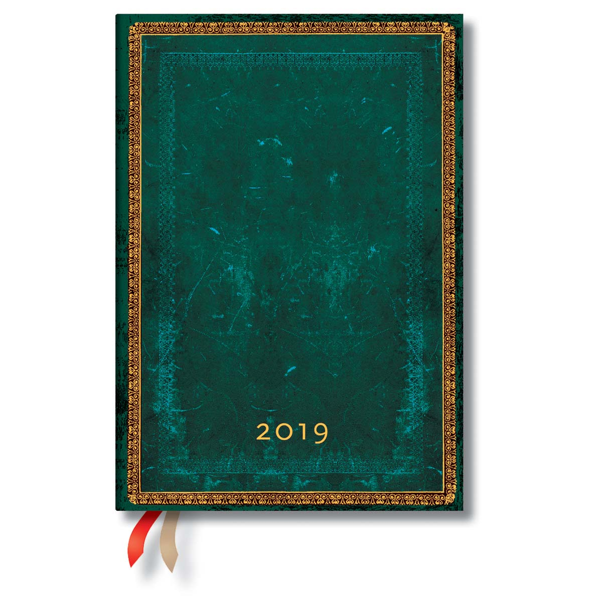 Paperblanks Midi Viridian 2019 Day-At-A-Time Planner