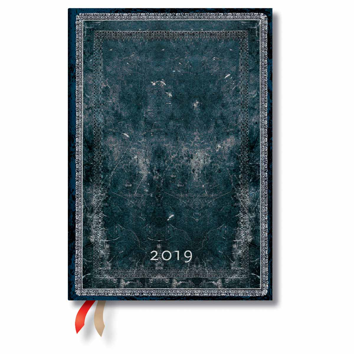 Paperblanks Midi Midnight Steel 2019 Week-At-A-Time Planner