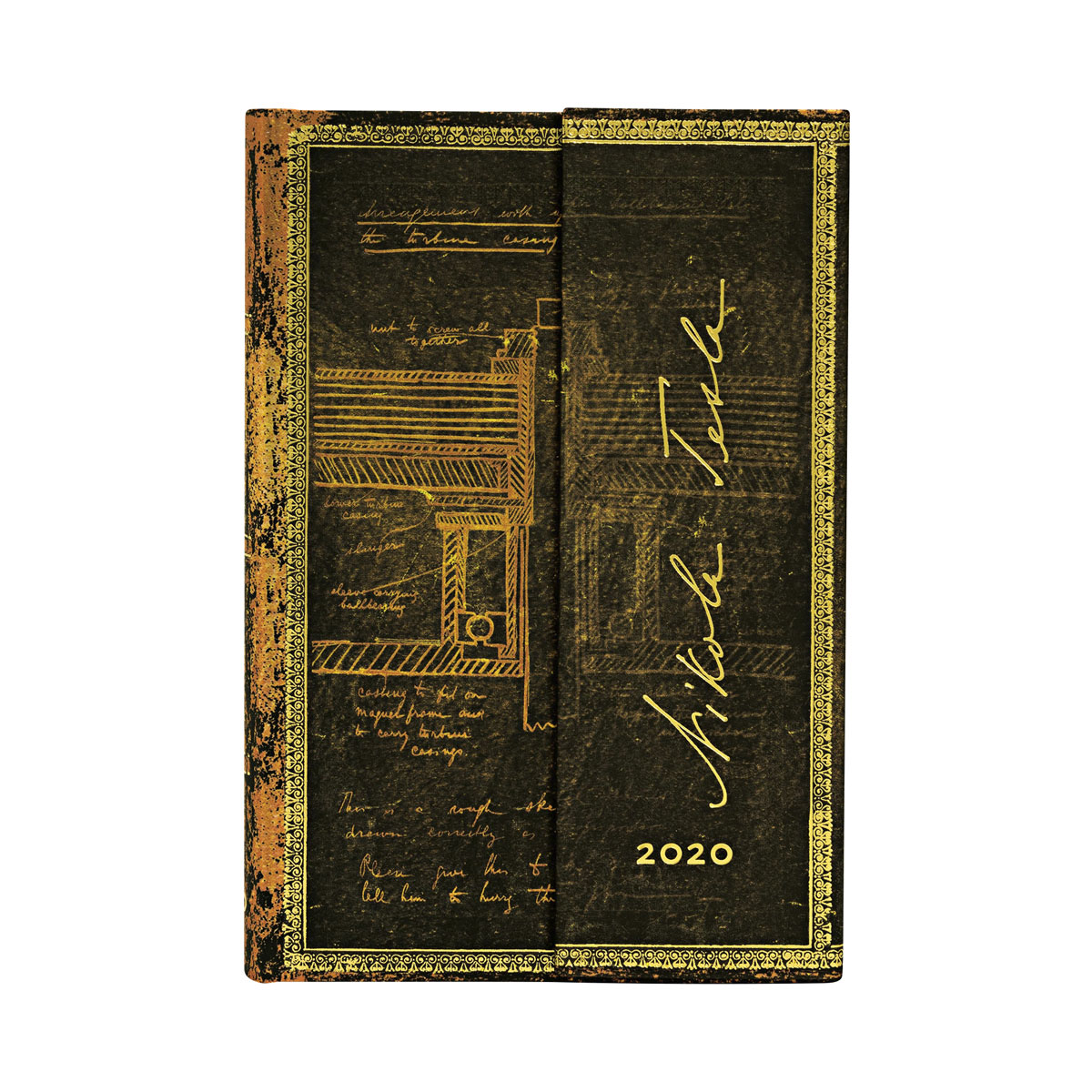 Paperblanks Mini Tesla Turbine 2020 Day-At-A-Time Planner