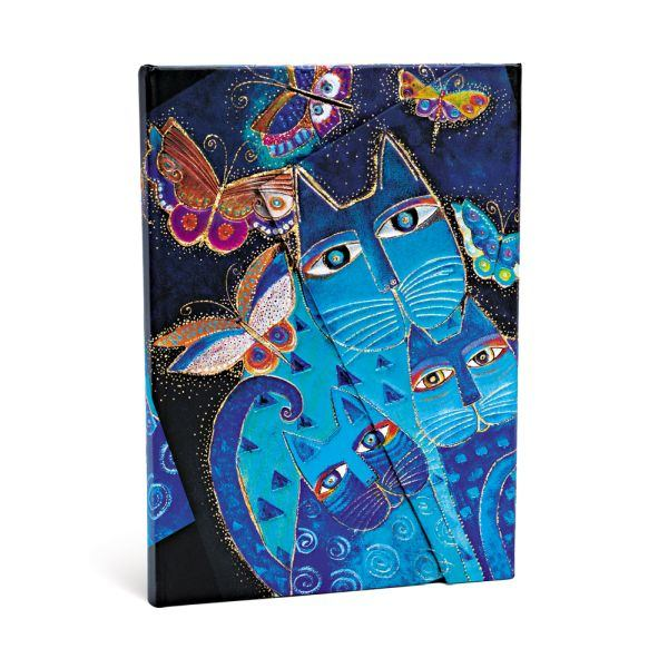 Paperblanks L.Burch Blue Cats and Butterflies Midi 5 x 7 Journal