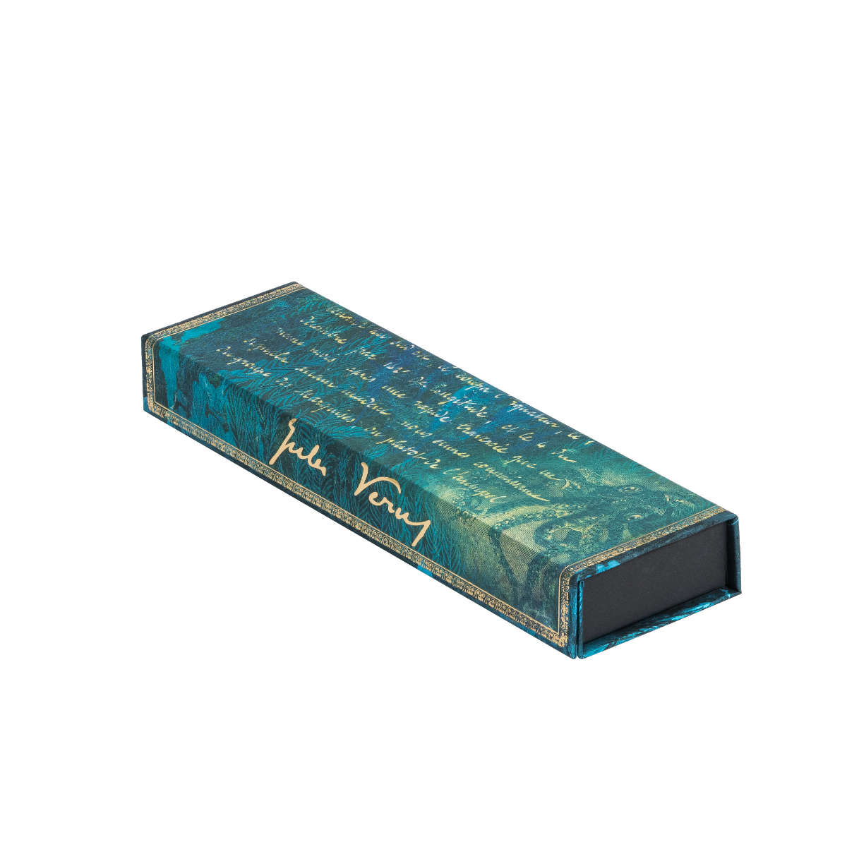 Paperblanks Verne 20,000 Leagues Pencil case 8.75 x 2.5 x 1.25