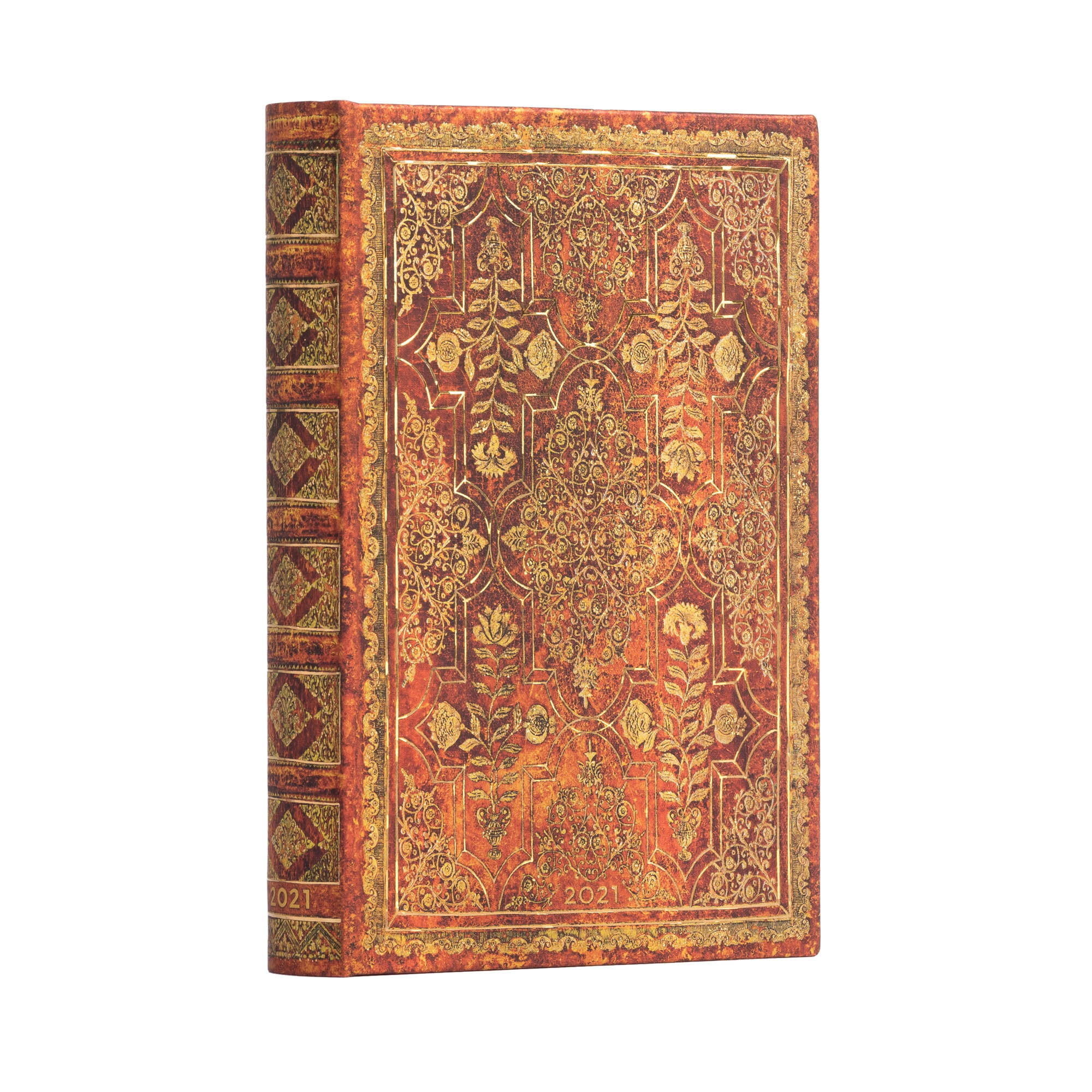 Paperblanks Mini Persimmon 2021 Day-At-A-Time Planner
