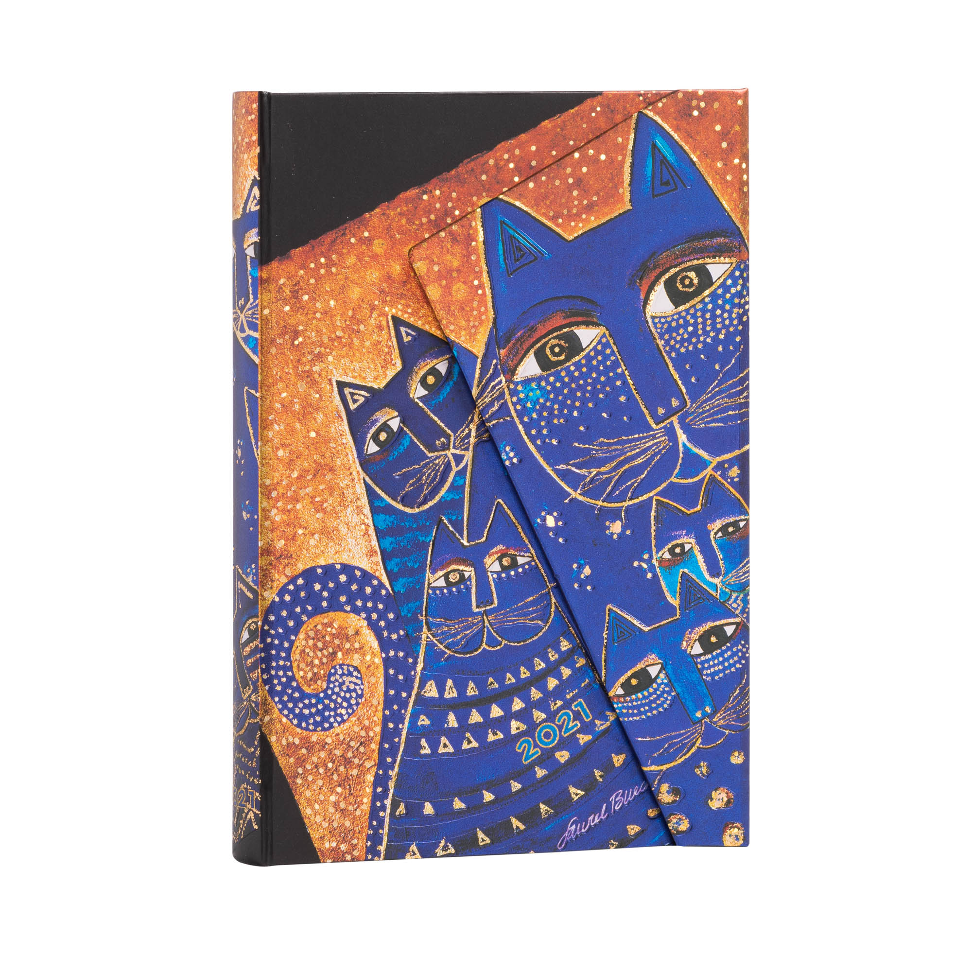 Paperblanks Mini Mediterranean Cats 2021 Week-At-A-Time Planner