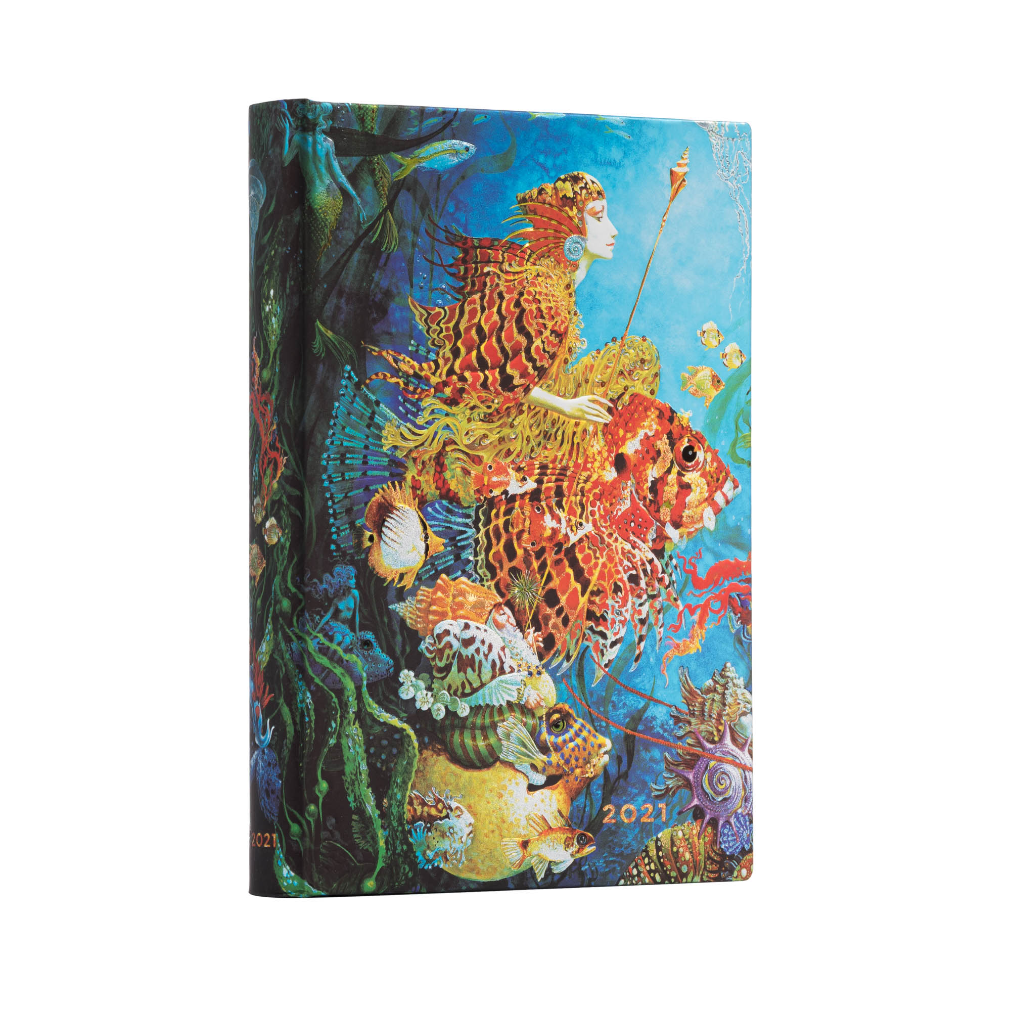 Paperblanks Midi Sea Fantasies 2021 Day-At-A-Time Planner