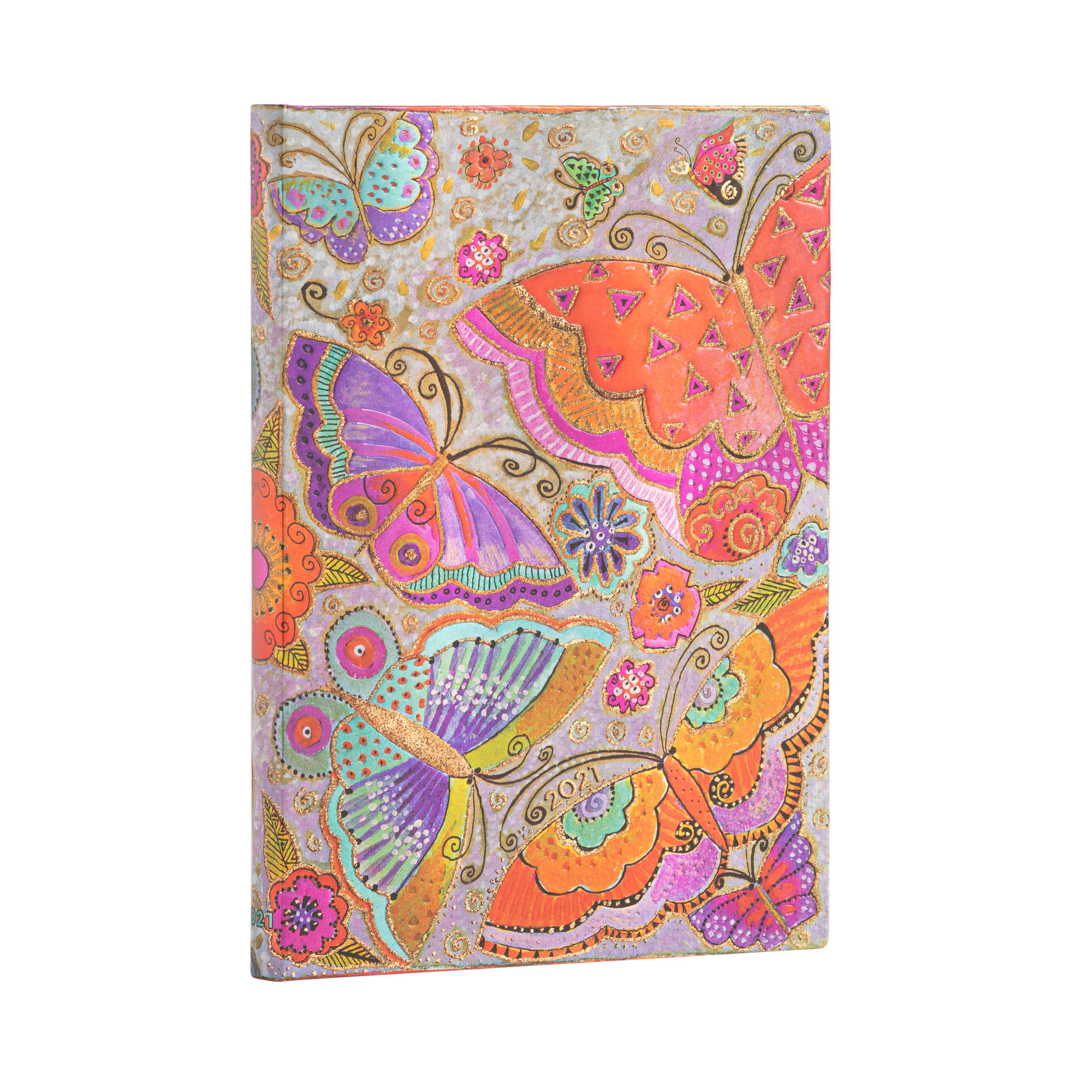 Paperblanks Midi 5x7 Flutterbyes 2021 Week-At-A-Time Planner