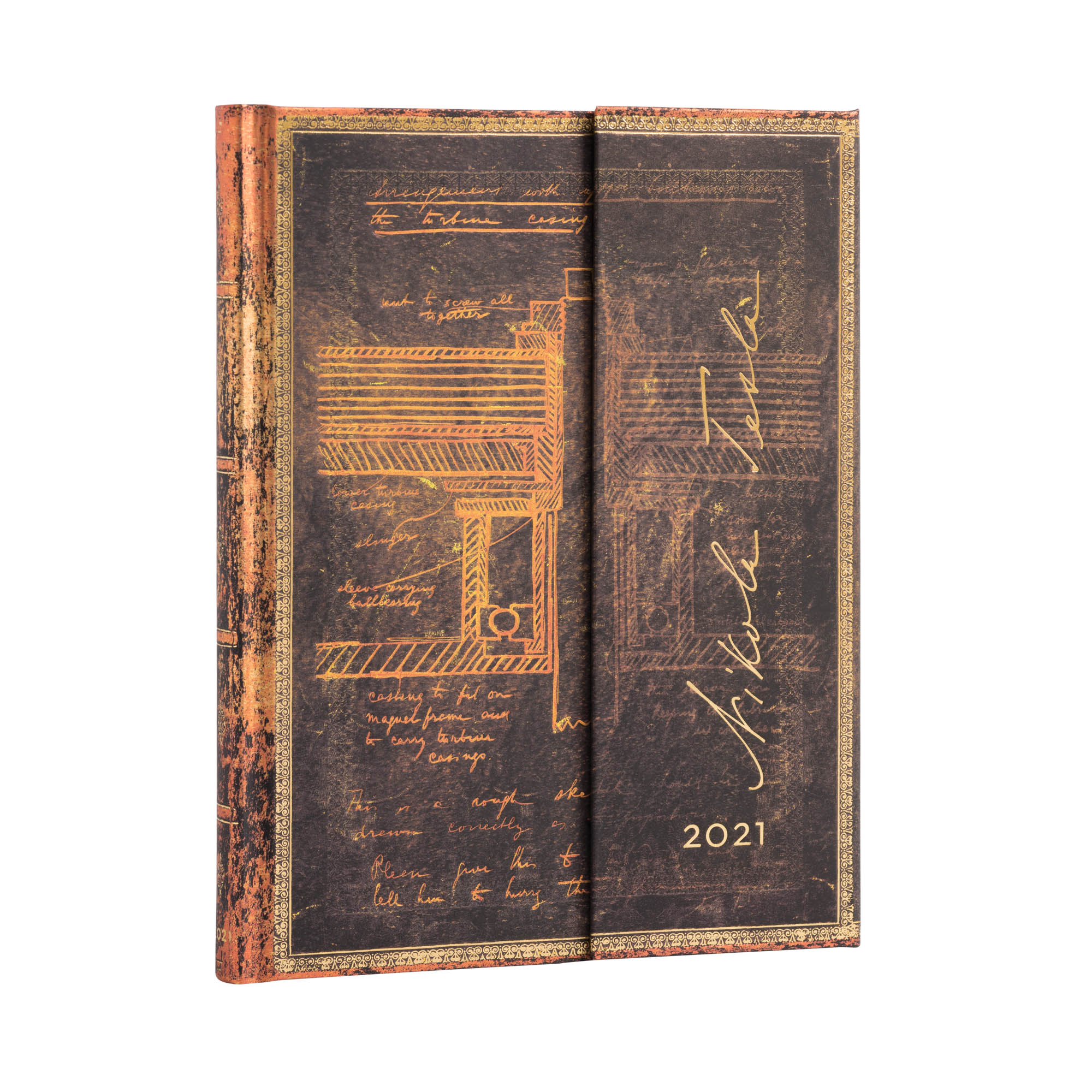 Paperblanks Ultra Tesla Turbine 2021 Week-At-A-Time Planner