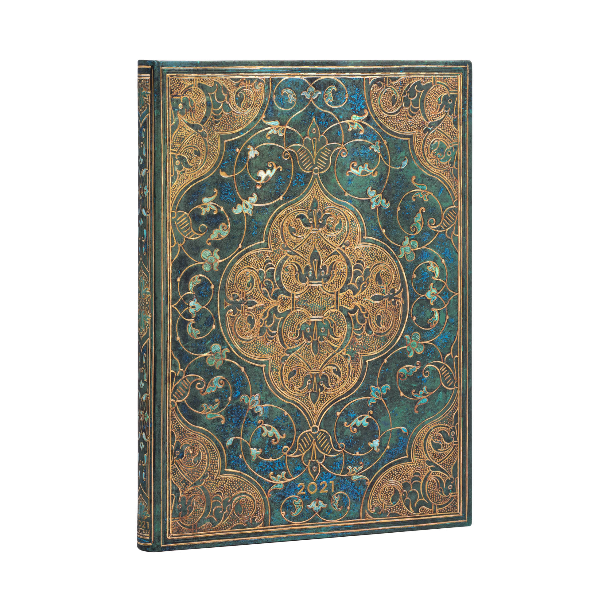 Paperblanks Ultra Turquoise Chronicles 2021 Week-A-Time Planner