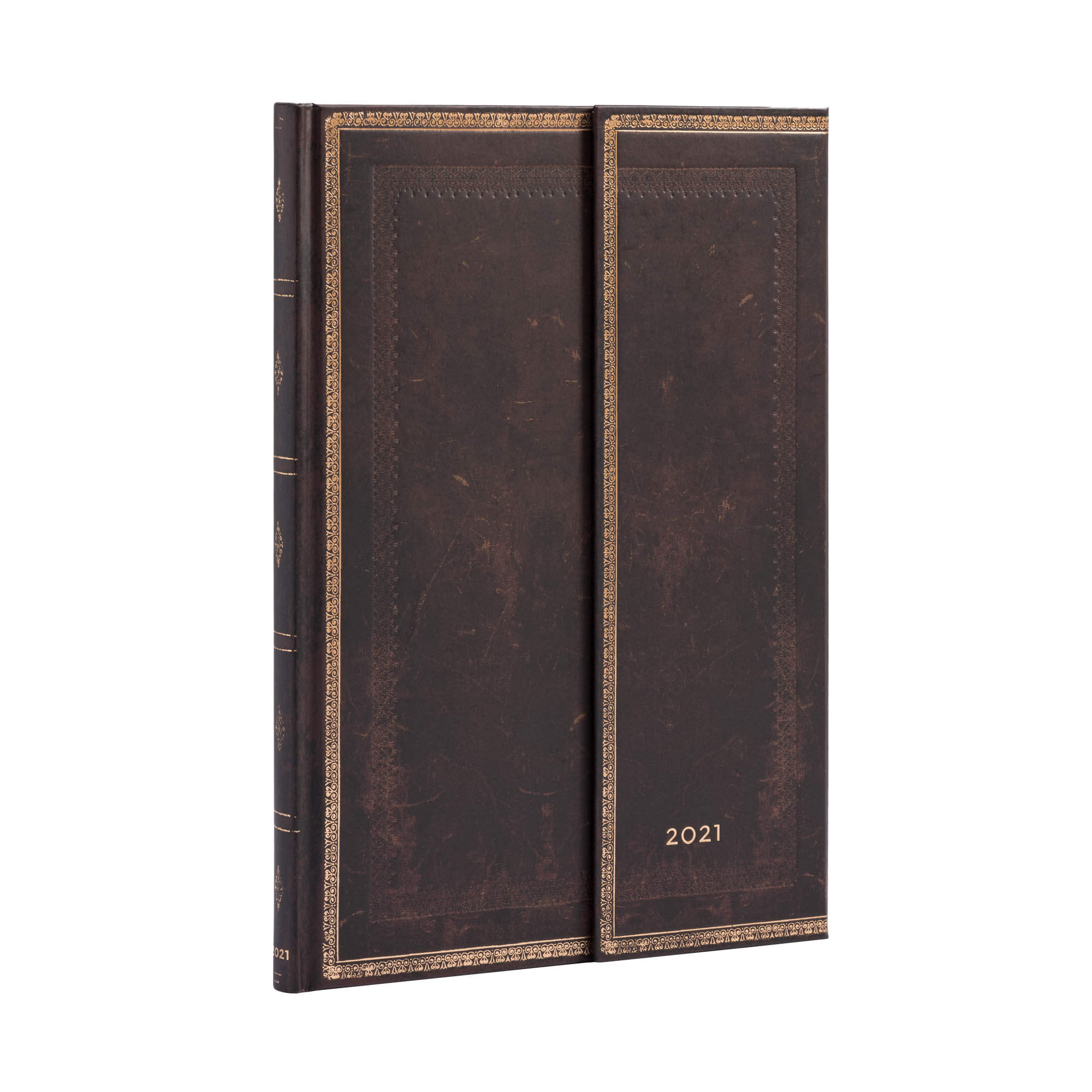 Paperblanks Grande Black Moroccan 2021 Week-At-A-Time Planner