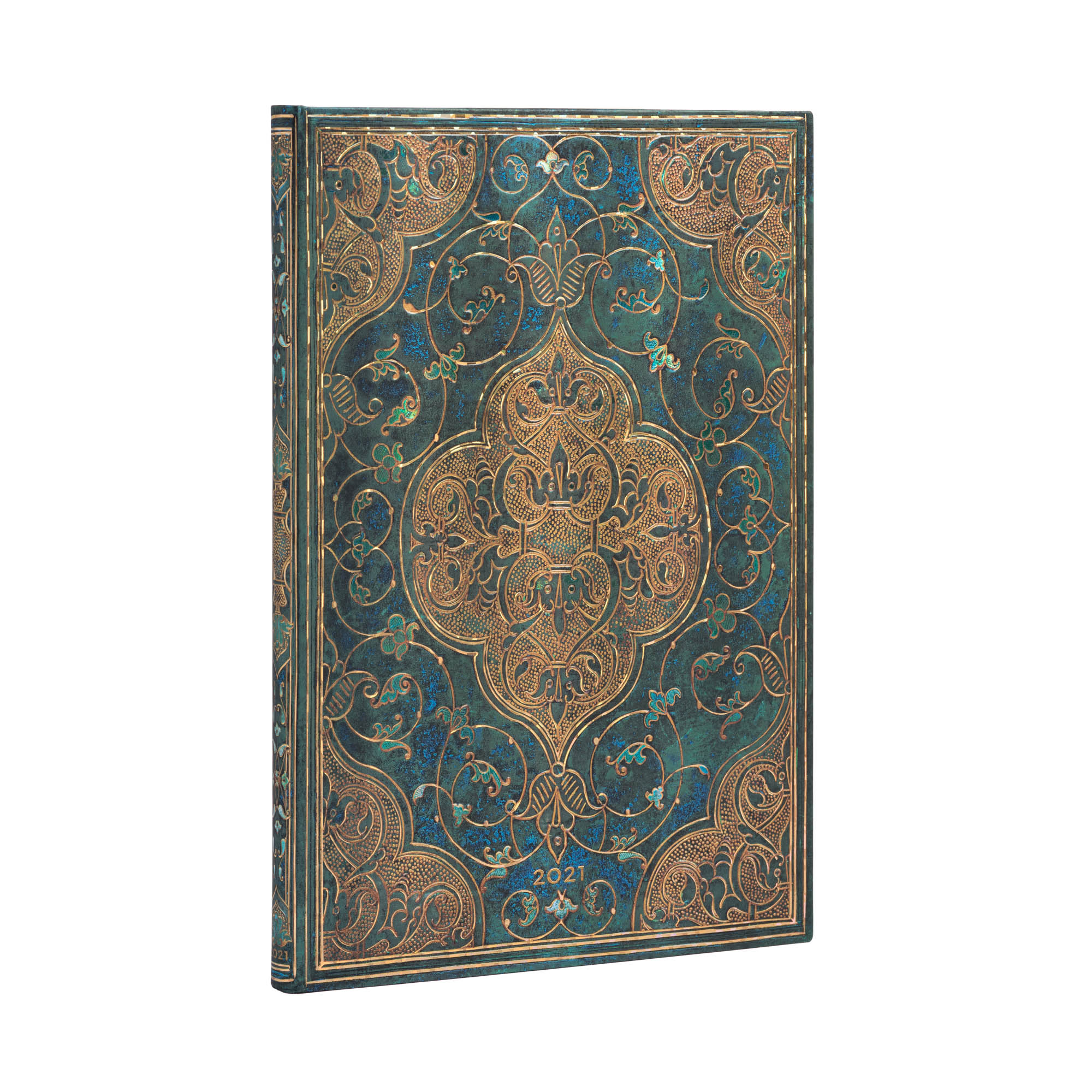 Paperblanks Grande Turquoise Chronic 2021 Week-At-A-Time Planner