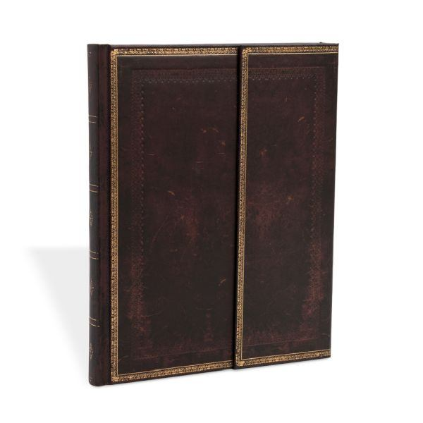 Paperblanks Old Leather Black Moroccan Ultra 7 x 9 Inch Journal