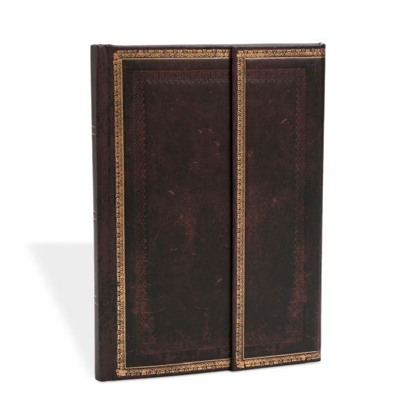 "Paperblanks Old Leather Black Moroccan 5 x 7"" Midi Journal"