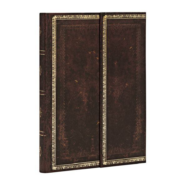 Paperblanks Old Leather Black Moroccan 4x5.5 Inch Flexi Journal