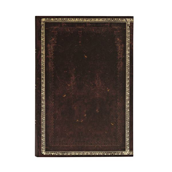 Paperblanks Old Leather Black Moroccan 4 x 5.5 Inch Flexi Mini