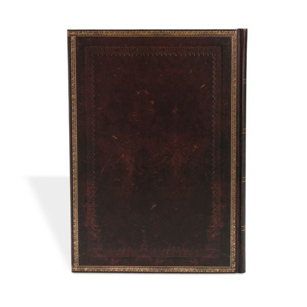 "Paperblanks Old Leather Black Moroccan 8 1/4"" x 11 3/4"" Grande"