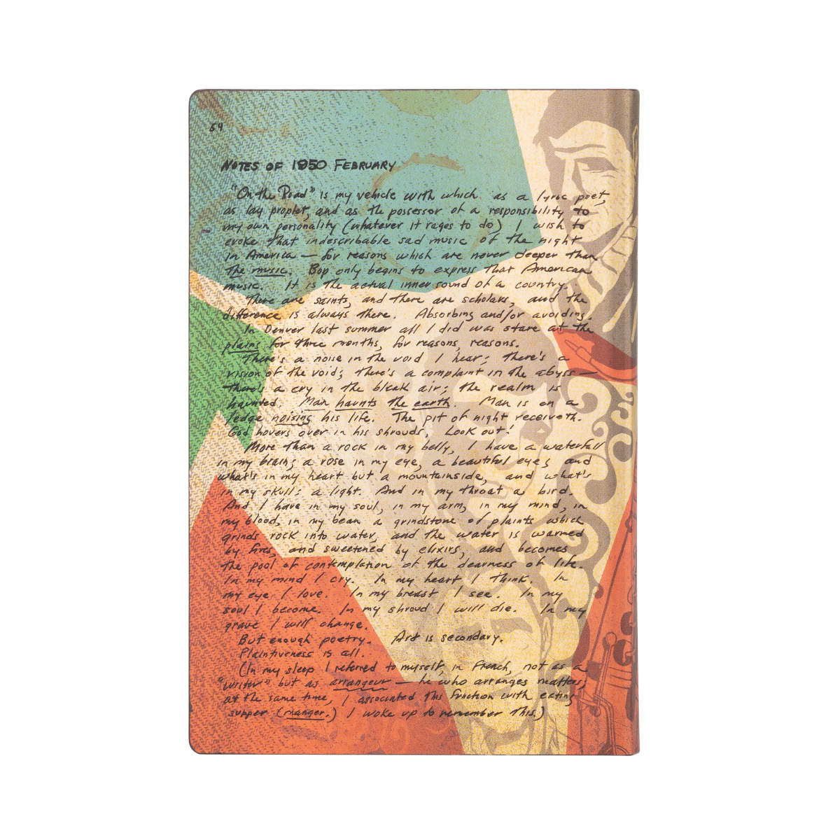 Paperblanks Flexis Jack Kerouac On the Road Mini Journal