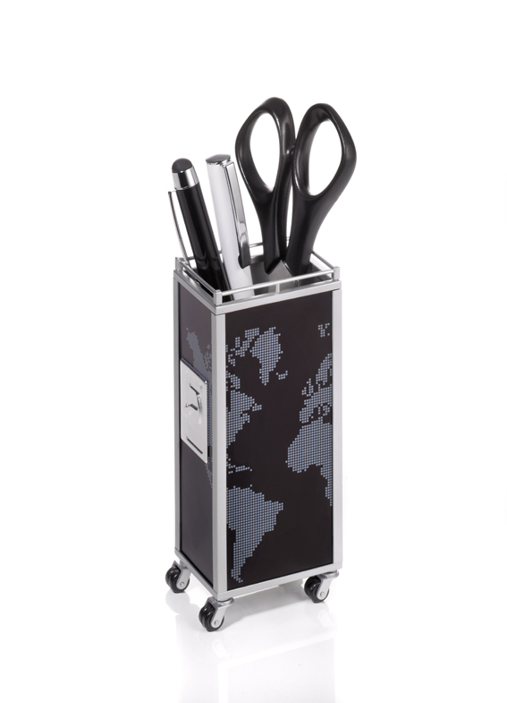 Troika Mini Trolley Black/Grey Desk Object