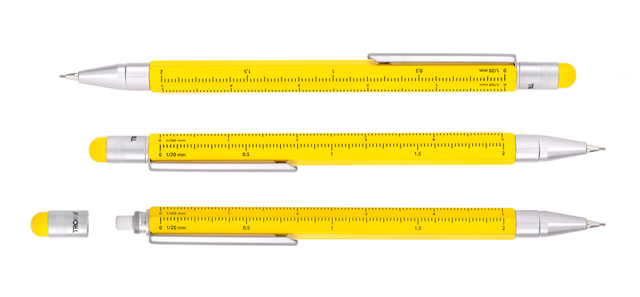 Troika Construction Graphite Mechanical Pencil Yellow