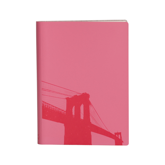 Paperthinks Large Slim Notebook Brooklyn Bridge Fuchsia