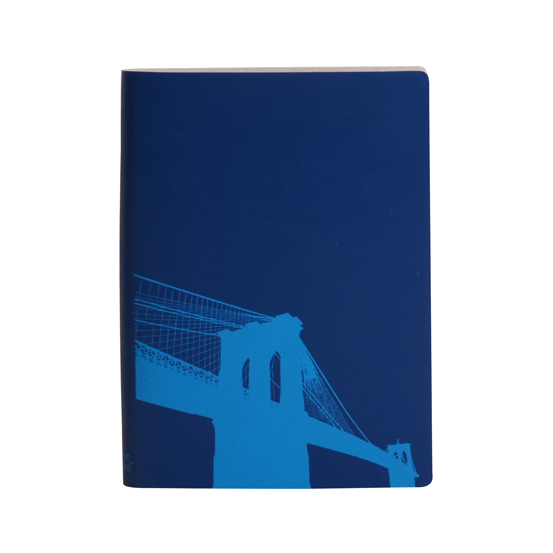 Paperthinks Large Slim Notebook Brooklyn Bridge Marine Blue