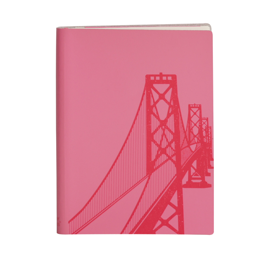 Paperthinks Large Slim Notebook Bay Bridge Fuchsia