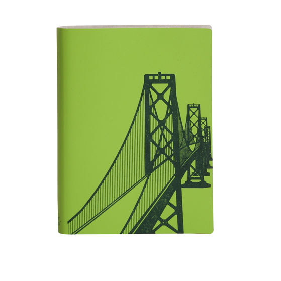 Paperthinks Large Slim Notebook Bay Bridge Mint