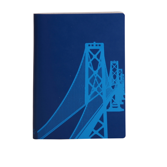 Paperthinks Large Slim Notebook Bay Bridge Marine Blue