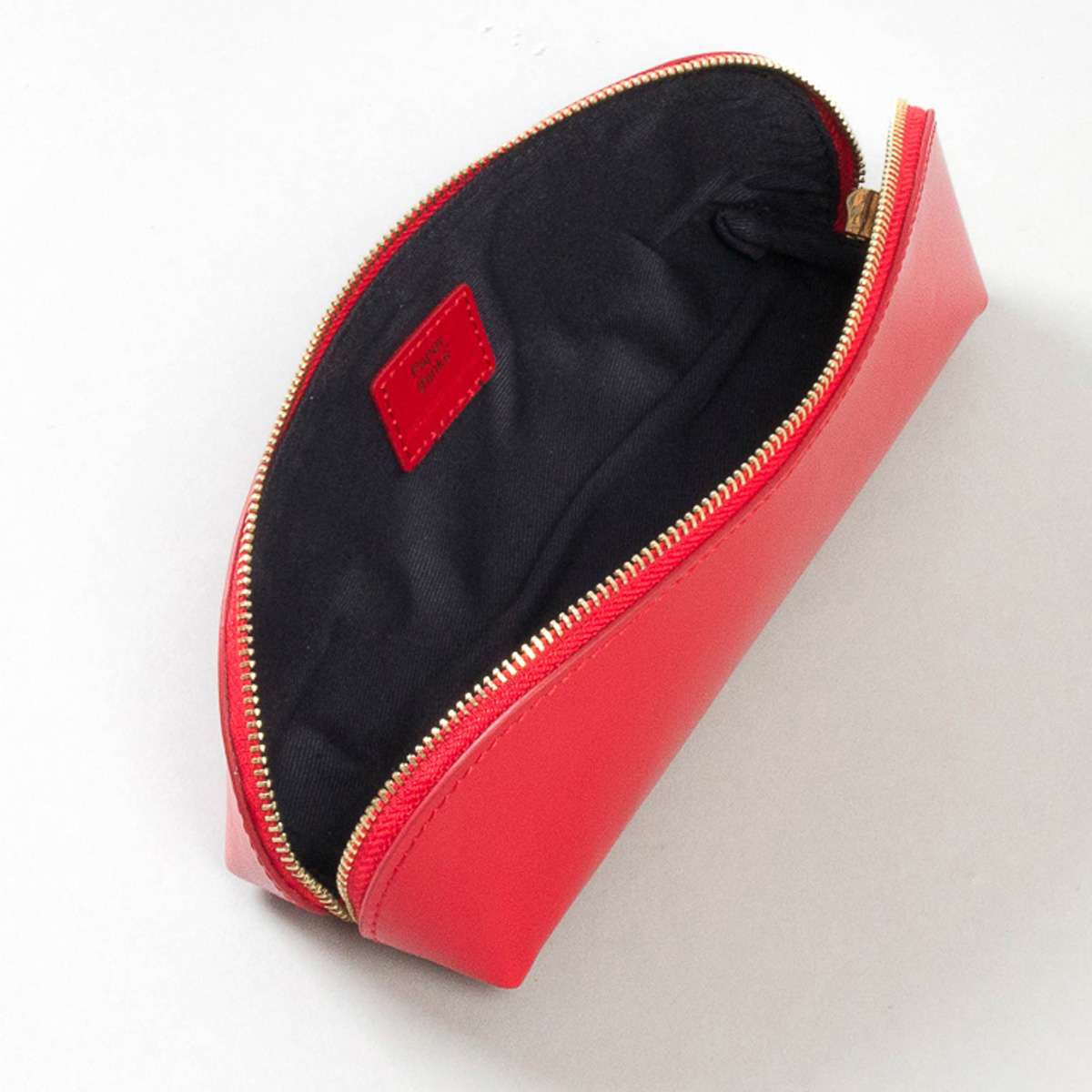 Paperthinks Recycled Leather Pencil Case Scarlet Red