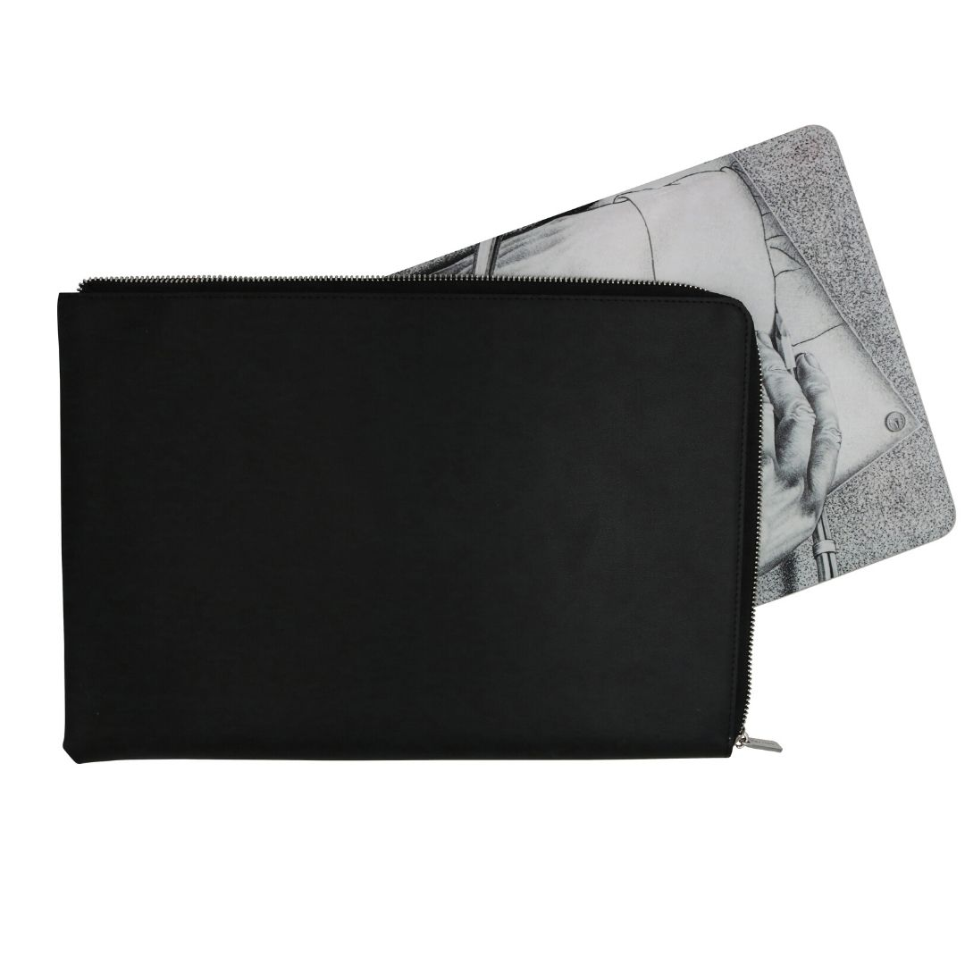 Paperthinks Eco-friendly Zip-Around Portfolio Black
