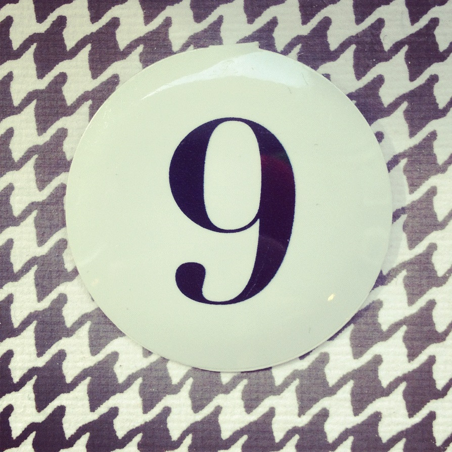 Presto Metal Tab Number Nine 9