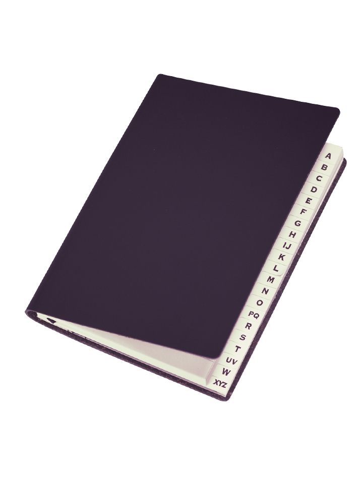 Paperthinks Slim Address Book Black