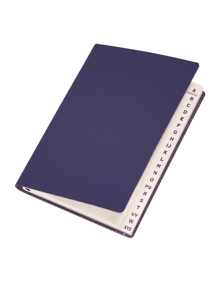 Paperthinks Slim Address Book Navy