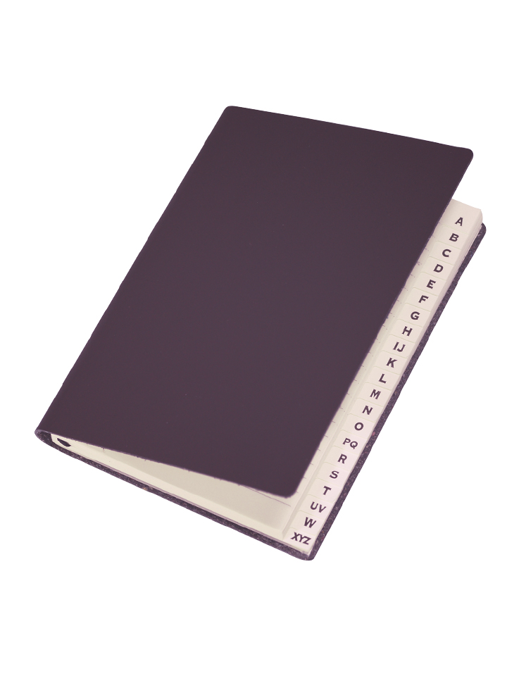 Paperthinks Slim Address Book Chocolate Brown