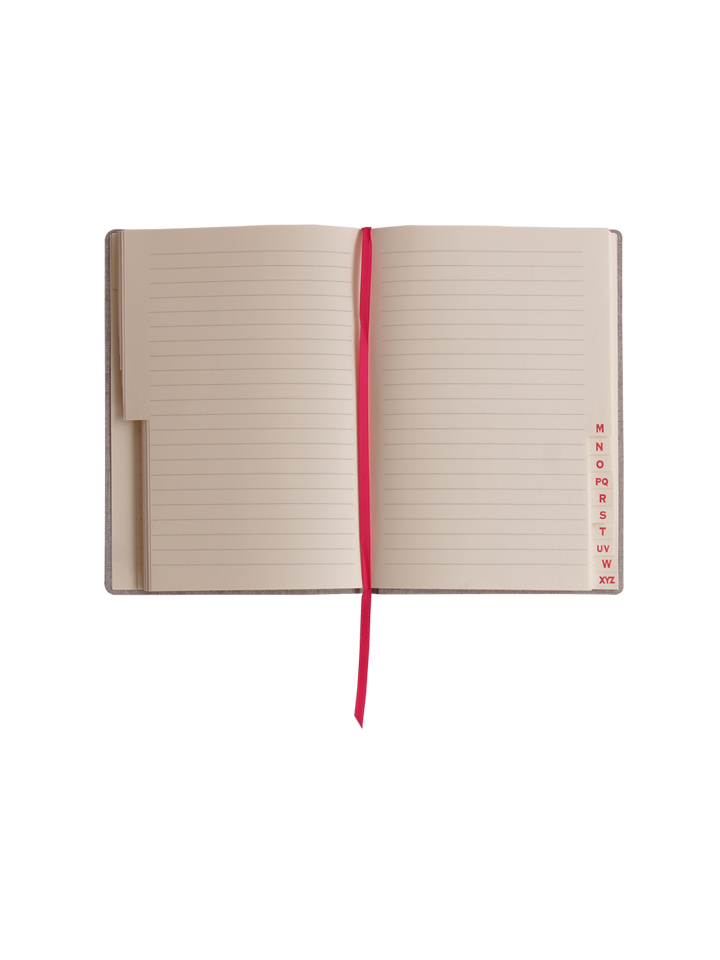 Paperthinks Slim Address Book Fuchsia
