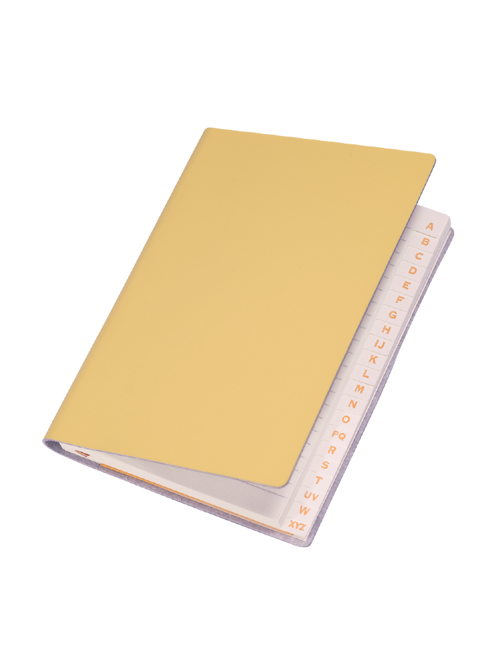 Paperthinks Slim Address Book Baby Maize