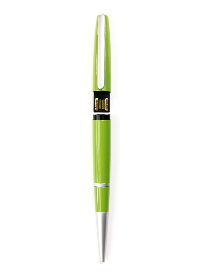 Ten Design Ballpoint Pen USB Drive Green