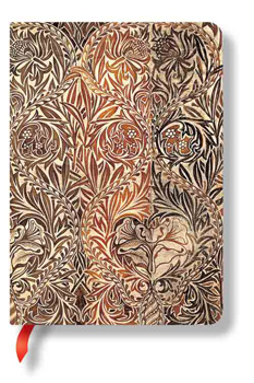 "Paperblanks William Morris Iris 5"" x 7 "" Midi Journal"