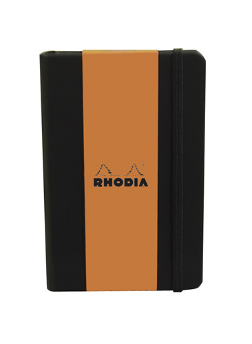 "Rhodia Webnotebook Pocket ruled Black 3 1/2"" x 5 1/2"""