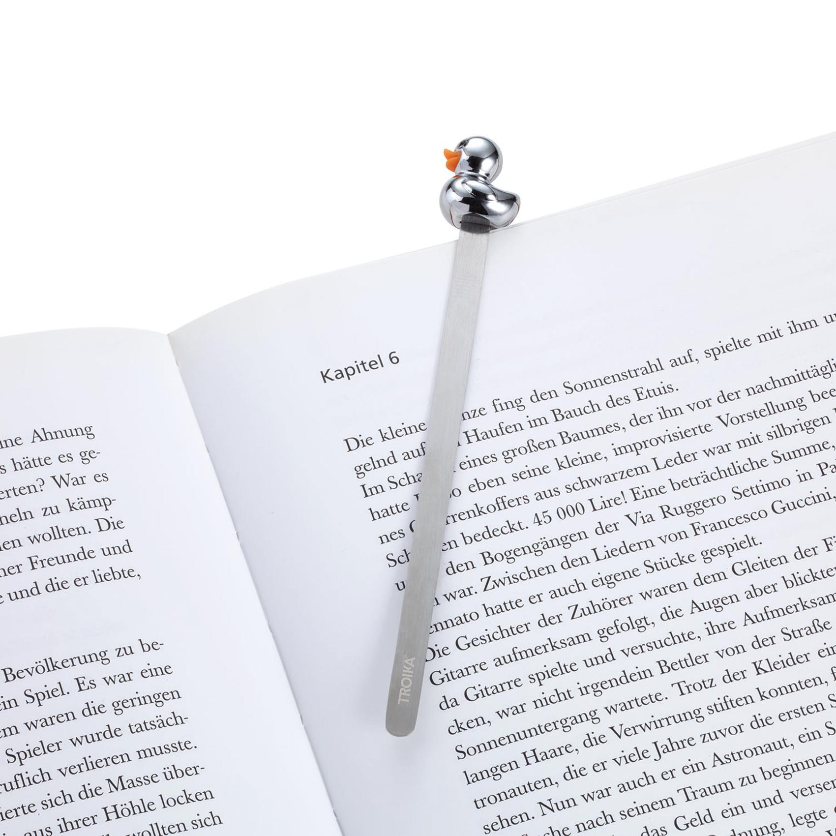 Troika Metal Bookmark with Silver Duck