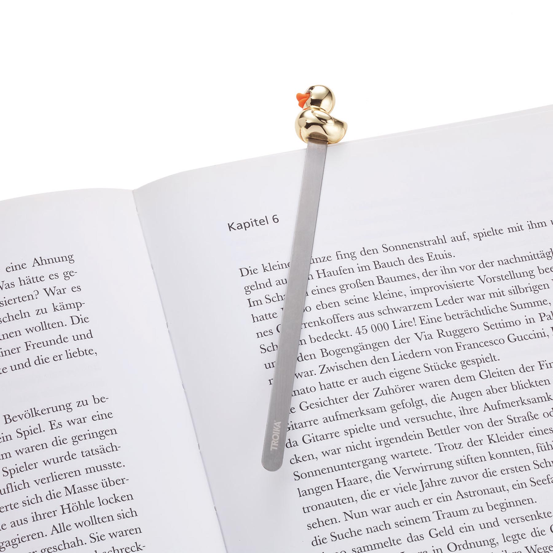 Troika Metal Bookmark with Gold Duck