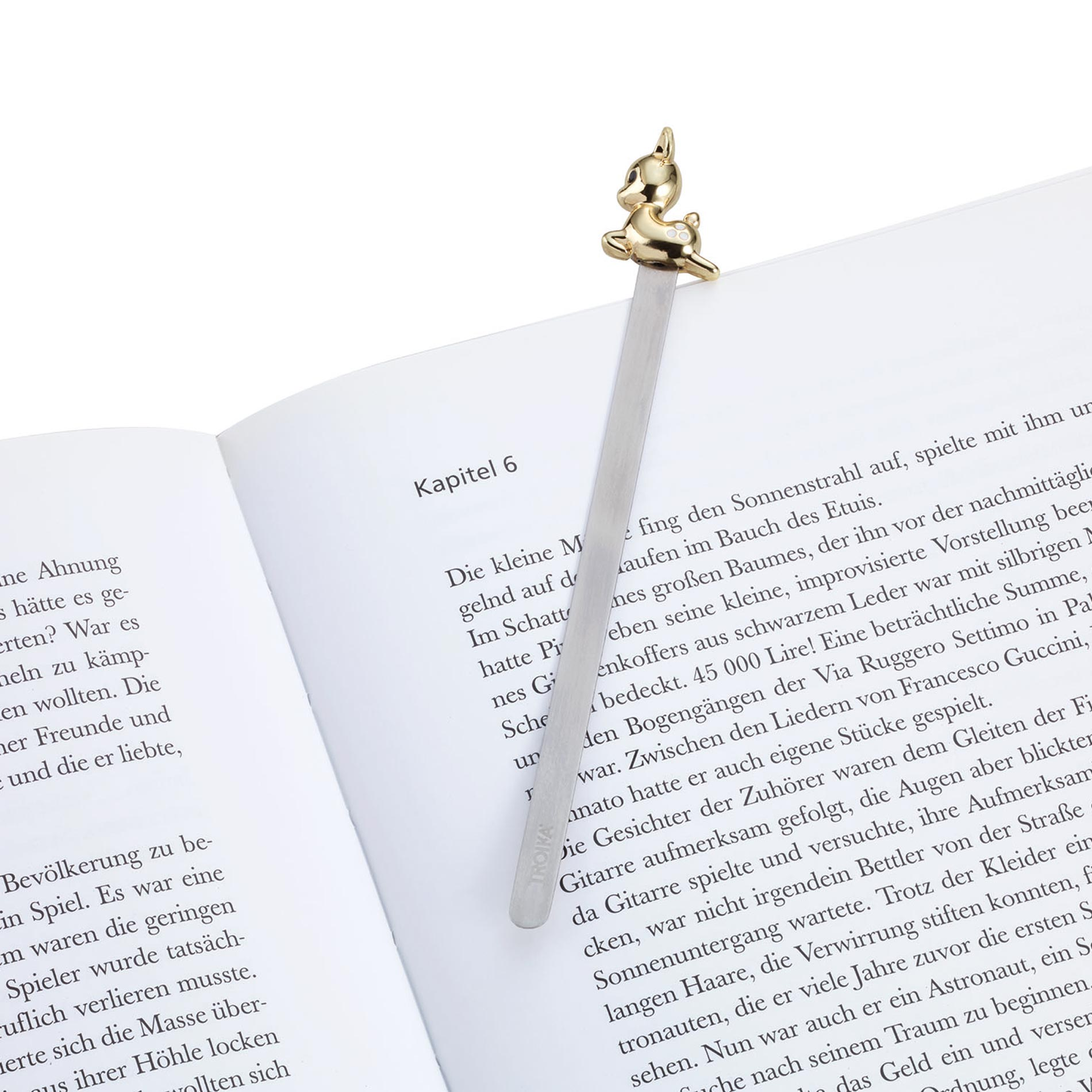 Troika Metal Bookmark with Gold Fawn