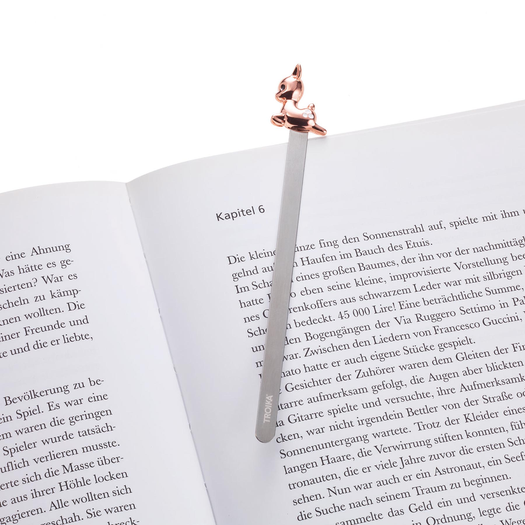 Troika Metal Bookmark with Rose Gold Fawn