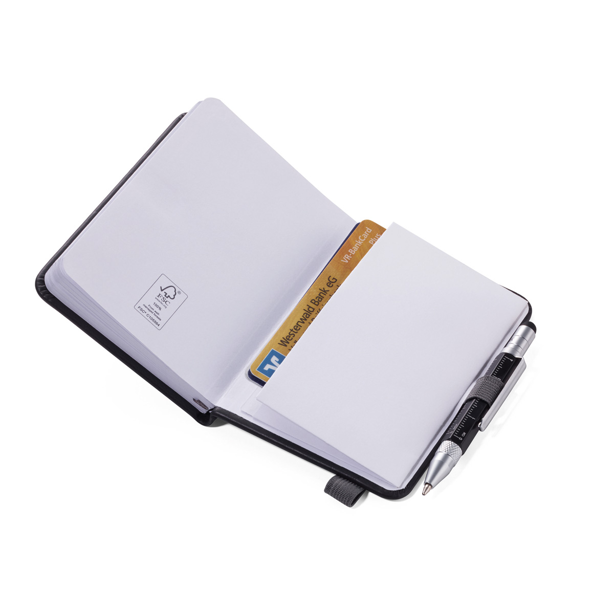 Troika Lilipad and Liliput Mini Notebook and Pen Black