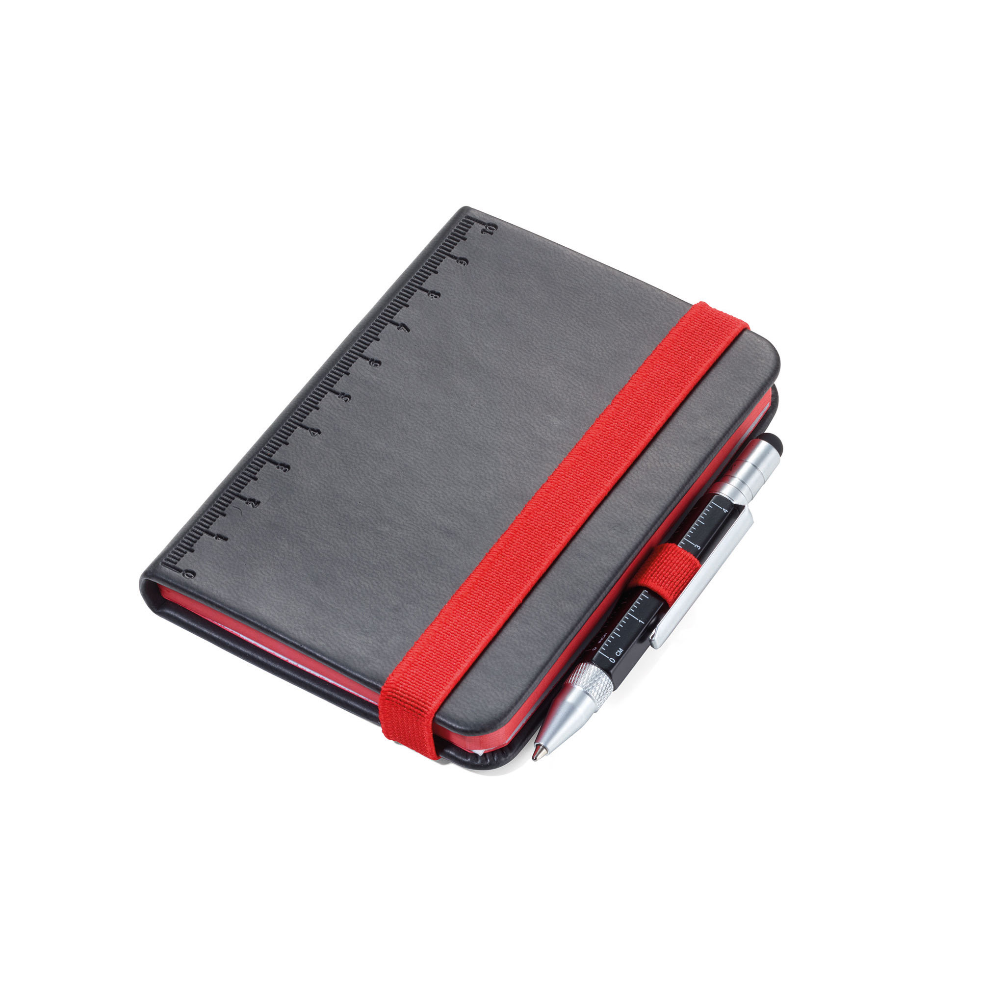 Troika Lilipad and Liliput Mini Notebook and Pen Black/Red