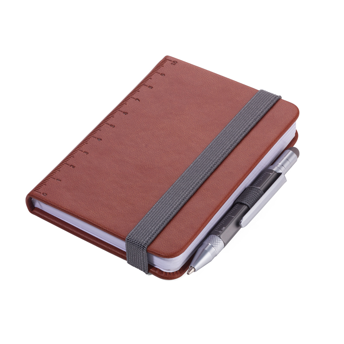 Troika Lilipad and Liliput Mini Notebook and Pen Brown