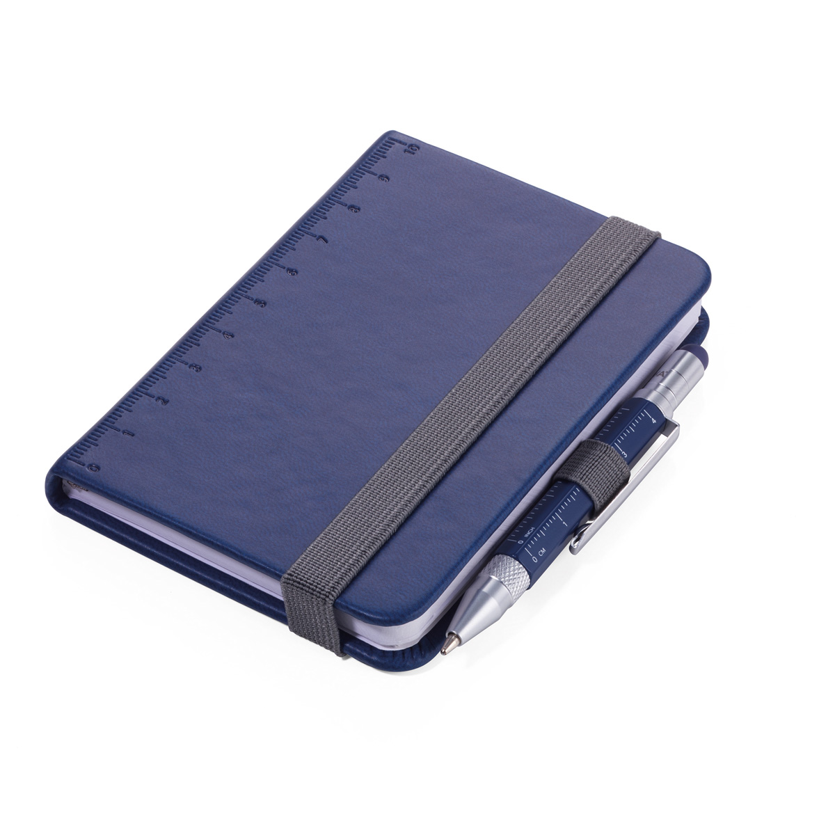 Troika Lilipad and Liliput Mini Notebook and Pen Dark Blue