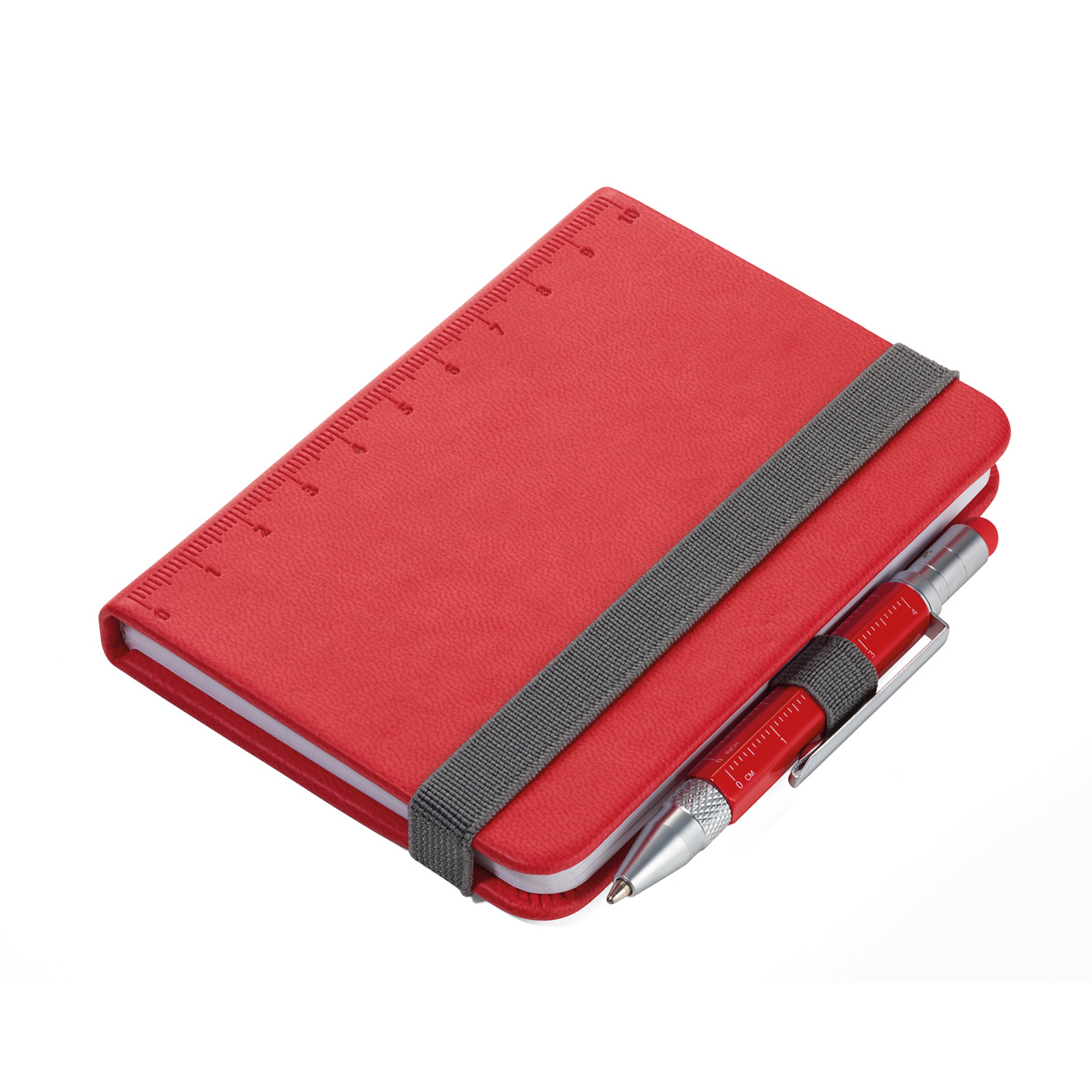Troika Lilipad and Liliput Mini Notebook and Pen Red