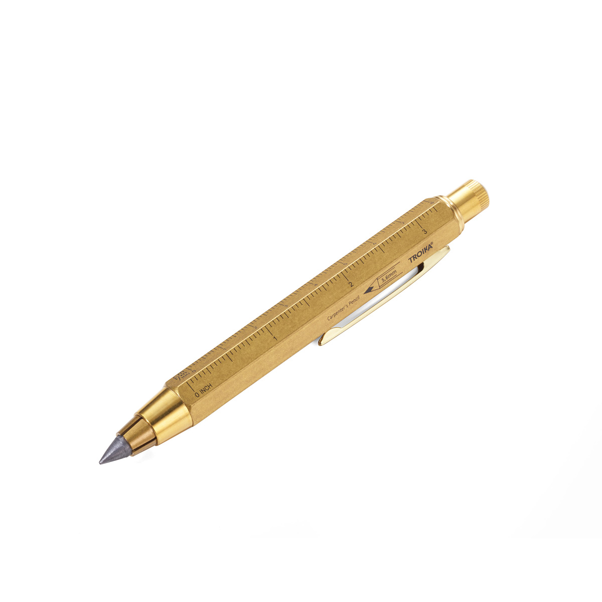 Troika Construction Carpenters 5.6 mm Clutch Pencil Brass